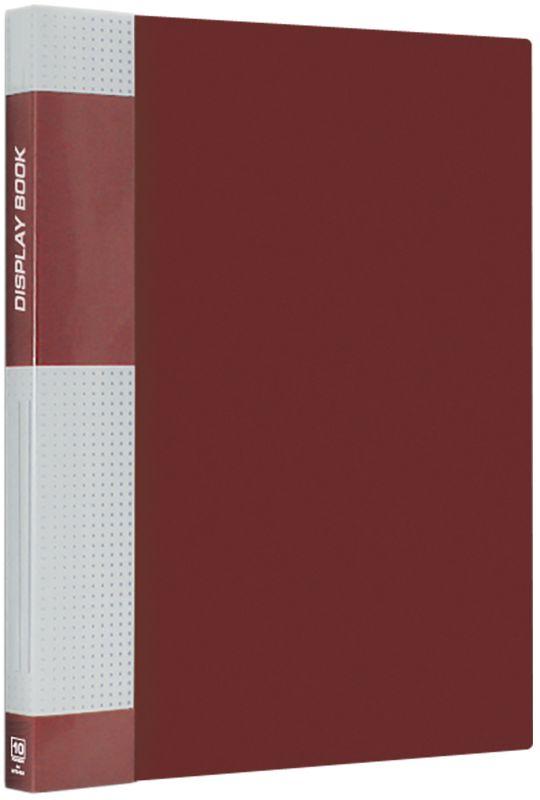 Berlingo Папка Standard с 10 вкладышами цвет красныйMT2421Функциональная папка Standard с прозрачными вкладышами удобна для хранения и демонстрации документов А4. На корешке имеется сменная этикетка для маркировки.Изготовлена из плотного пластика. Ширина корешка - 9 мм.