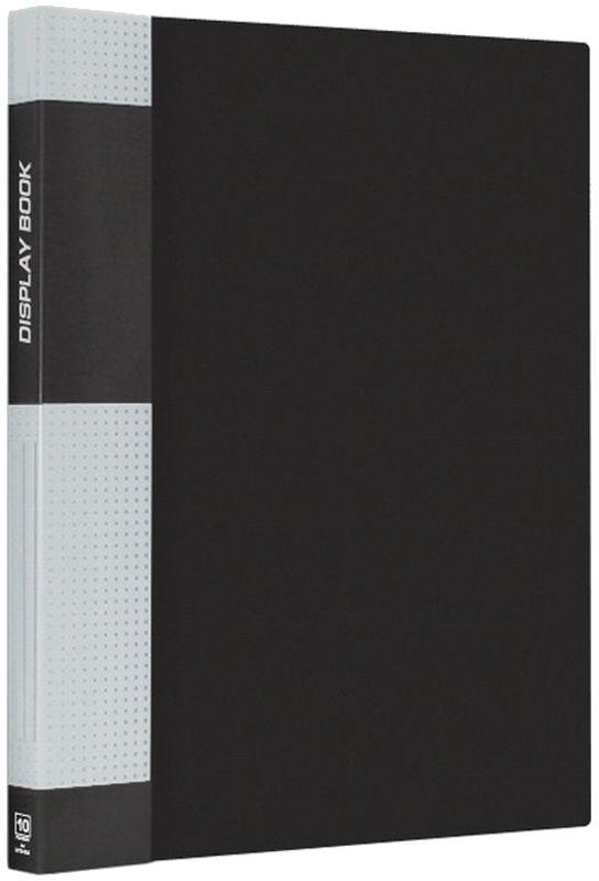 Berlingo Папка Standard с 10 вкладышами цвет черныйMT2424Функциональная папка Standard с прозрачными вкладышами удобна для хранения и демонстрации документов А4. На корешке имеется сменная этикетка для маркировки. Изготовлена из плотного пластика. Ширина корешка - 9 мм.
