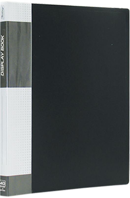 Berlingo Папка Standard с 40 вкладышами цвет черный папка proff next а4 0 40 0 70 мм пластиковая полупрозрачная синяя с резинкой