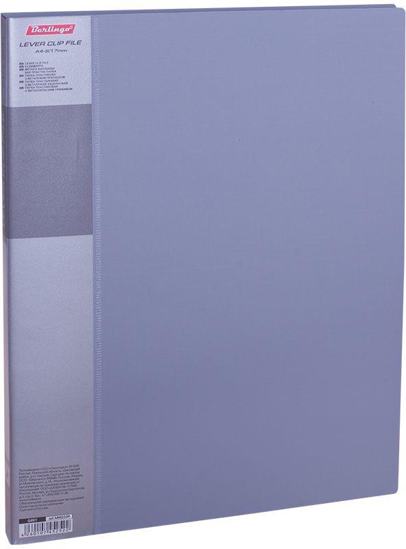 Berlingo Папка с зажимом Standard цвет серыйMM2339Папка с зажимом Standard позволяет хранить и переносить документы, защищает их от пыли. Металлический зажим надежно фиксирует документы, не повреждая их. Изготовлена из плотного яркого пластика. Классические офисные цвета в ассортименте. В корешок папки вставляется лист для описания и названия, внутри папки имеется кармашек для мелких бумаг.