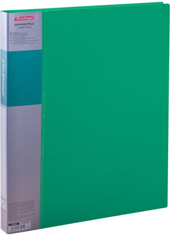 Berlingo Папка-скоросшиватель Standard цвет зеленыйMH2332Папка с зажимом Standard позволяет хранить и переносить документы, защищает их от пыли. Пружинный механизм из металла надежно фиксирует документы. Позволяет хранить документы формата А4. Подходит как для перфорированных документов, так и для папок-вкладышей со стандартной перфорацией. Изготовлена из плотного пластика. Классические офисные цвета в ассортименте. В корешок папки вставляется лист для описания и названия, внутри папки имеется кармашек для мелких бумаг.