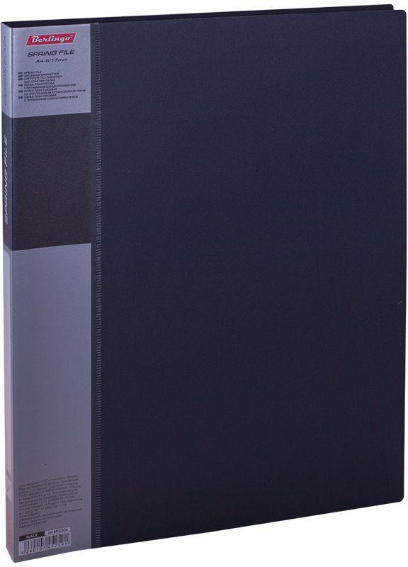 Berlingo Папка-скоросшиватель Standard цвет черныйMH2336Папка с зажимом Standard позволяет хранить и переносить документы, защищает их от пыли. Пружинный механизм из металла надежно фиксирует документы. Позволяет хранить документы формата А4. Подходит как для перфорированных документов, так и для папок-вкладышей со стандартной перфорацией. Изготовлена из плотного пластика. Классические офисные цвета в ассортименте. В корешок папки вставляется лист для описания и названия, внутри папки имеется кармашек для мелких бумаг.