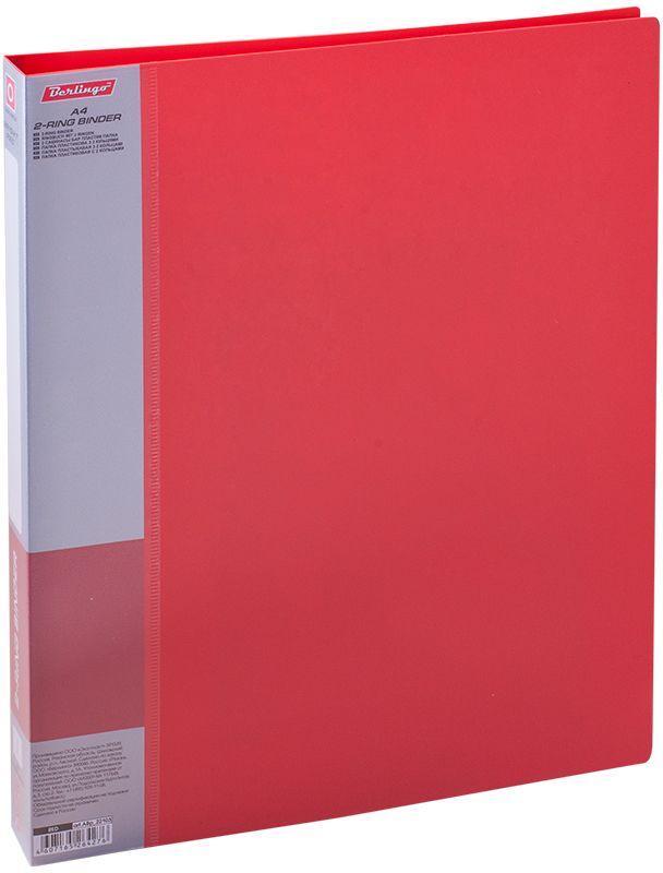 Berlingo Папка на 2-х кольцах Standard цвет красныйABp_22103Папка на 2-х кольцах Standard для хранения перфорированных документов изготовлена из пластика. Кольцевой механизм надежно держит документы и файлы. В корешок папки вставляется лист для описания и названия.