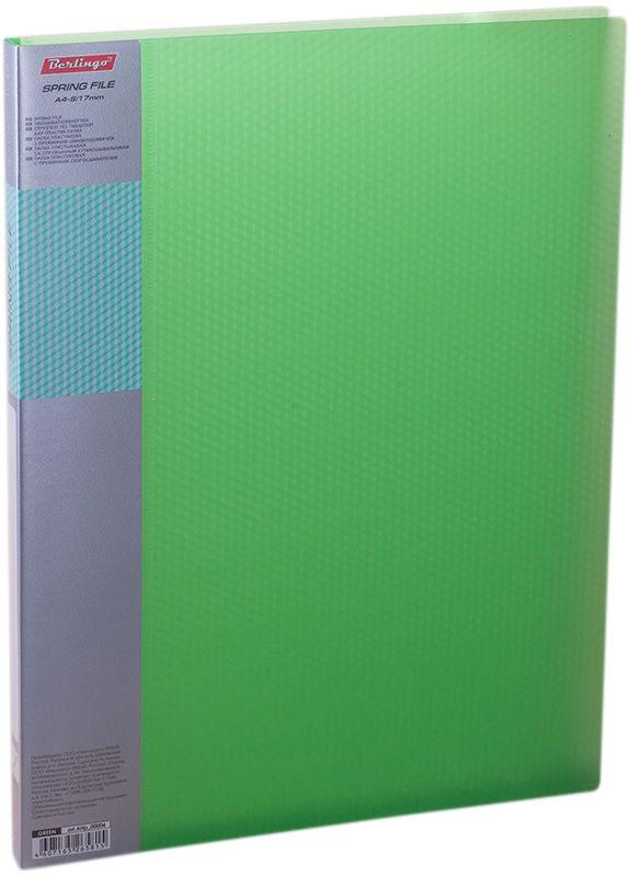 Berlingo Папка-скоросшиватель Diamond цвет прозрачный зеленыйAHp_00004Папка с зажимом Diamond позволяет хранить и переносить документы, защищает их от пыли. Пружинный механизм из металла надежно фиксирует документы. Позволяет хранить документы формата А4. Подходит как для перфорированных документов, так и для папок-вкладышей со стандартной перфорацией. Изготовлена из плотного полупрозрачного пластика. Классические офисные цвета в ассортименте. Обложка папки оформлена легким голографическим принтом в кубик. В корешок папки вставляется лист для описания и названия.
