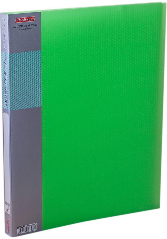 Berlingo Папка с зажимом Diamond цвет зеленыйACp_01004Папка с зажимом Diamond позволяет хранить и переносить документы, защищает их от пыли. Металлический зажим надежно фиксирует документы, не повреждая их. Изготовлена из плотного полупрозрачного пластика. Классические офисные цвета в ассортименте. Обложка папки оформлена легким голографическим принтом в кубик. В корешок папки вставляется лист для описания и названия.