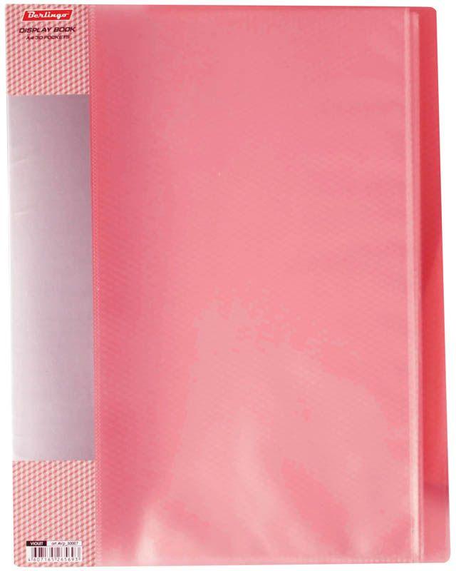Berlingo Папка Diamond с 40 вкладышами цвет красныйAVp_40003Функциональная папка с прозрачными вкладышами удобна для хранения и демонстрации документов А4. На папке предусмотрена сменная этикетка на корешке для маркировки. Изготовлена из фактурного полупрозрачного пластика.Ширина корешка - 21 мм.