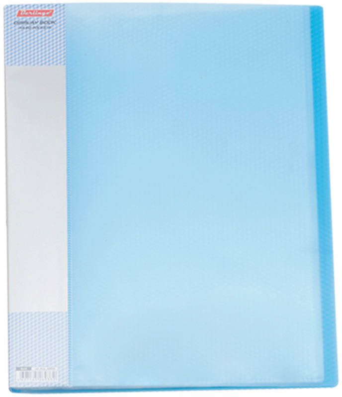 Berlingo Папка Diamond с 60 вкладышами цвет синийAVp_60002Функциональная папка с прозрачными вкладышами удобна для хранения и демонстрации документов А4. На папке предусмотрена сменная этикетка на корешке для маркировки. Изготовлена из фактурного полупрозрачного пластика.Ширина корешка - 21 мм.