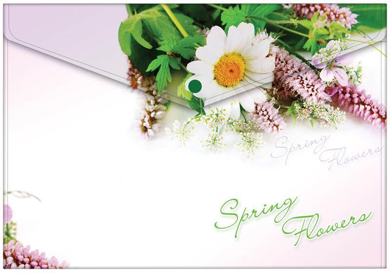 Berlingo Папка-конверт на кнопке Spring FlowersAKk_04031Папка-конверт Berlingo Spring Flowers - это удобный и многофункциональный инструмент, который идеально подойдет для хранения и транспортировки различных бумаг и документов формата А4.Папка изготовлена из прочного пластика, закрывается на кнопку.Папка практична в использовании и надежно сохранит ваши документы и сбережет их от повреждений, пыли и влаги.