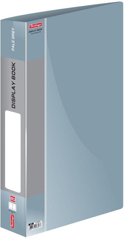 Berlingo Папка Standard с 80 вкладышами цвет серыйMT2447Функциональная папка Standard с прозрачными вкладышами удобна для хранения и демонстрации документов А4. На корешке имеется сменная этикетка для маркировки.Изготовлена из плотного пластика. Ширина корешка - 40 мм.