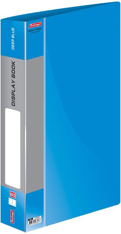 Berlingo Папка Standard с 80 вкладышами цвет синийMT2448Функциональная папка Standard с прозрачными вкладышами удобна для хранения и демонстрации документов А4. На корешке имеется сменная этикетка для маркировки.Изготовлена из плотного пластика. Ширина корешка - 40 мм.