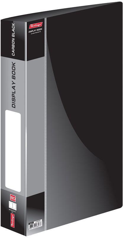 Berlingo Папка Standard с 80 вкладышами цвет черныйMT2449Функциональная папка Standard с прозрачными вкладышами удобна для хранения и демонстрации документов А4. На корешке имеется сменная этикетка для маркировки.Изготовлена из плотного пластика. Ширина корешка - 40 мм.