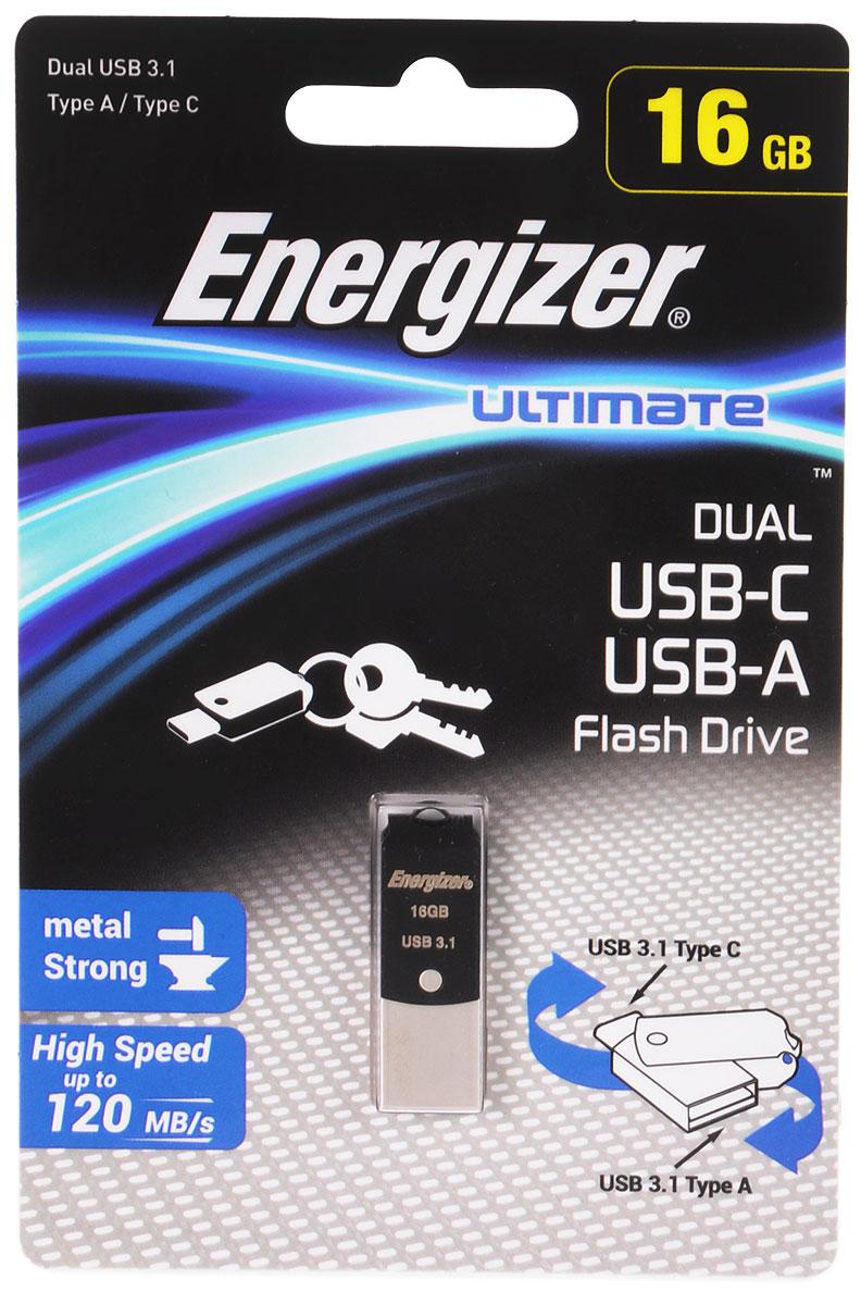 Energizer Ultimate Dual 16GB флэш-накопитель - Носители информации
