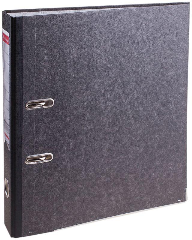 Berlingo Папка-регистратор цвет мраморный черныйAM4810Папка-регистратор Berlingo пригодится в каждом офисе и доме для хранения больших объемовдокументов.Обложка изготовлена из жесткого износостойкого картона. Папкаоснащена прочным металлическим арочным механизмом, обеспечивающим надежную фиксациюперфорированных бумаг и документов формата А4. Круглое отверстие в корешке папки облегчитее извлечение с полки, а прозрачный карман со съемной этикеткой позволяет маркироватьсодержимое. На внутренней стороне обложки размещено поле для записей.Нижняя грань папки имеет металлическую окантовку.Папка-регистратор станет вашим надежным помощником, она упростит работу с бумагами идокументами и защитит их от повреждения, пыли и влаги.
