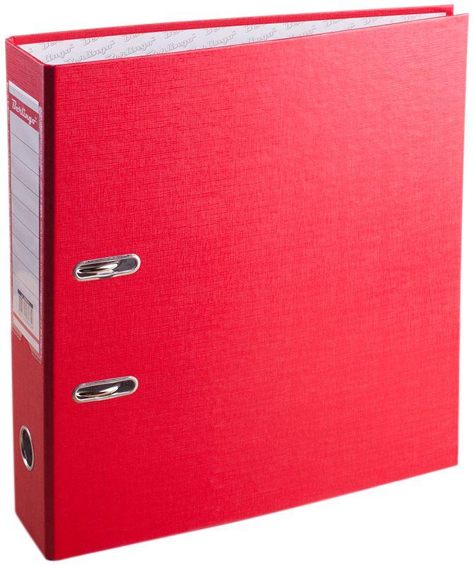 Berlingo Папка-регистратор цвет красный формат А4AM4511Папка-регистратор Berlingo изготовлена из жесткого износостойкого картона с односторонним покрытием из бумвинила. Конструкция разработана с учетом всех особенностей эксплуатации. Выгодно отличается надежным арочным механизмом из качественного металла, наличием кармана на корешке со сменным информационным ярлыком для маркировки, полем для записей на внутренней стороне обложки, отверстием для удобного снятия папки с полки.