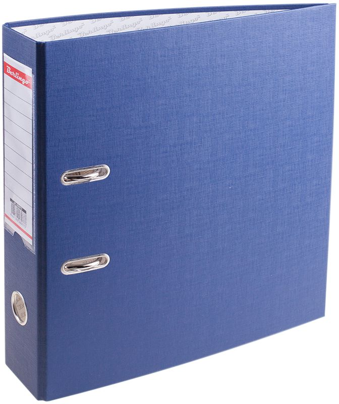 Berlingo Папка-регистратор цвет синий AM4513AM4513Папка-регистратор Berlingo пригодится в каждом офисе и доме для хранения больших объемов документов. Внешняя сторона папки выполнена из плотного картона с ПВХ-покрытием, что обеспечивает устойчивость к влаге и износу.Папка-регистратор оснащена надежным арочным механизмом крепления бумаги. Круглое отверстие в корешке папки облегчит ее извлечение с полки, а прозрачный карман со съемной этикеткой позволяет маркировать содержимое.