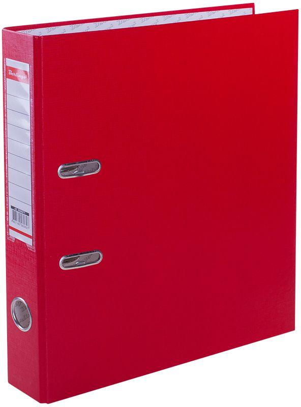 Berlingo Папка-регистратор цвет красныйAM4611Папка-регистратор Berlingo выполнена в красном цвете. Обложка из жесткого износостойкого картона с односторонним покрытием из бумвинила. Конструкция разработана с учетом всех особенностей эксплуатации. Выгодно отличаются надежным арочным механизмом из качественного металла, наличием кармана на корешке со сменным информационным ярлыком для маркировки, полем для записей на внутренней стороне обложки, отверстием для удобного снятия папки с полки.