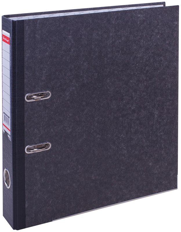 Berlingo Папка-регистратор цвет мраморныйATm_59101Пaпка-регистратор Berlingo с арочным механизмом из жесткого износостойкого картона с покрытием из специальной ламинированной бумаги. На папке предусмотрен карман на корешке со сменным информационным ярлыком для маркировки, полем для записей на внутренней стороне обложки, отверстием для удобного снятия с полки. Нижние грани укреплены металлическим кантом.