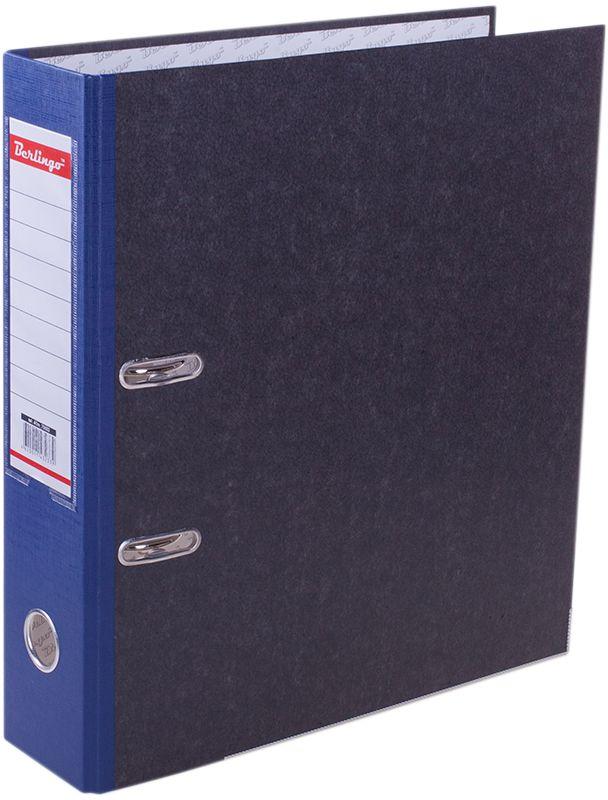 Berlingo Папка-регистратор цвет мраморный синий ATm_70502ATm_70502Папка-регистратор Berlingo выполнена в мраморно-сером и синем цвете.Обложка из жесткого износостойкого картона с односторонним покрытием из бумвинила. Конструкция разработана с учетом всех особенностей эксплуатации. Выгодно отличаются надежным арочным механизмом из качественного металла, наличием кармана на корешке со сменным информационным ярлыком для маркировки, полем для записей на внутренней стороне обложки, отверстием для удобного снятия папки с полки.