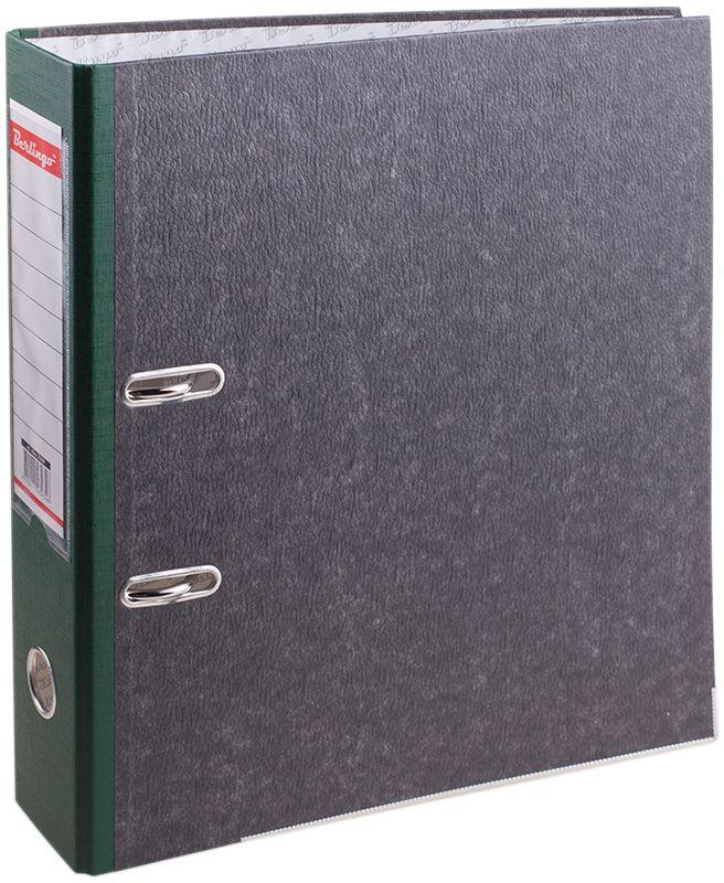 Berlingo Папка-регистратор цвет мраморный зеленый формат А4ATm_70504Папка-регистратор Berlingo с арочным механизмом из жесткого износостойкого картона с односторонним покрытием из специальной ламинированной бумаги популярной офисной расцветки под мрамор. Эффективно экономит офисное пространство, идеальны для создания архива. Конструкция разработана с учетом всех особенностей эксплуатации. Выгодно отличаются надежным арочным механизмом из качественного металла, наличием кармана на корешке со сменным информационным ярлыком для маркировки, полем для записей на внутренней стороне обложки, отверстием для удобного снятия папки с полки.