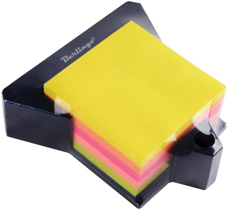 Berlingo Бумага для заметок с липким краем 7,6 х 7,6 см на подставке 400 листовLSz_76769Бумага для заметок с липким краем Berlingo - это удобное и практическое решение для быстрой записи информации дома или на работе.Качественная клеевая полоса рассчитана на крепление к любой поверхности, позволяет приклеивать и отклеивать листок неограниченное количество раз, не оставляя следов. Блок имеет пять насыщенных неоновых цвета. Размер блока - 76 х 76 мм. В блоке - 400 листов. Удобная пластиковая подставка с местом для хранения ручки или карандаша.