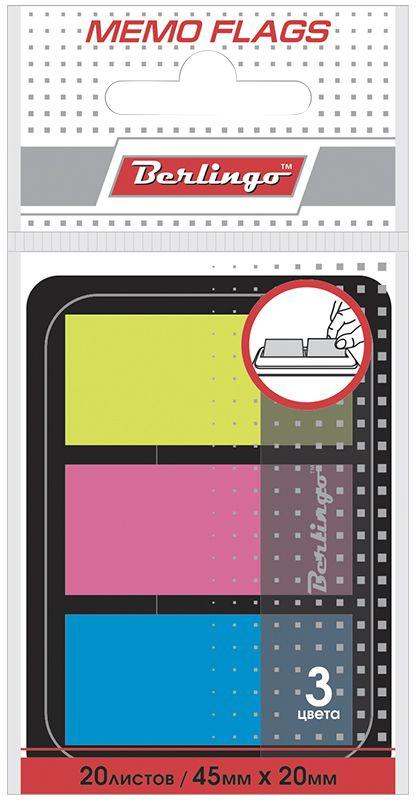 Berlingo Блок-закладка с липким слоем 2 х 4,5 см 20 листовLSz_45201Самоклеящиеся пластиковые полупрозрачные флажки-закладки ярких неоновых цветов, упакованные в пластиковый диспенсер. Удобно извлекаются одной рукой. Подходят для крепления на любой поверхности. Легко отклеиваются, не оставляя следов. В блоке 20 листов.