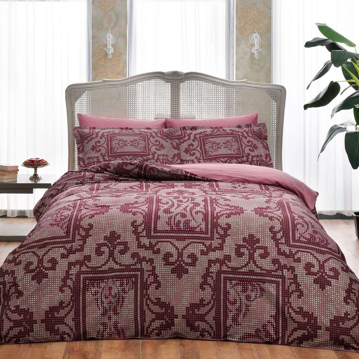 Комплект белья TAC Grant Bordo, 2-спальный, наволочки 50х704245-20243Показатель должного внимания. Выбирая Satin Delux, вы выбираете престиж. Эксклюзивность и непревзойденность в деталях пошива и дизайне. Сатин – гладкая и прочная ткань, которая своим блеском, легкостью и гладкостью похожа на шелк, но выгодно отличается от него в цене. Сатин практически не мнется, поэтому его можно не гладить. Ко всему прочему, он весьма практичен, т.к. хорошо переносит множественные стирки. Если вы ценитель эстетики и практичности одновременно, безусловно, сатин для вас!Советы по выбору постельного белья от блогера Ирины Соковых. Статья OZON Гид