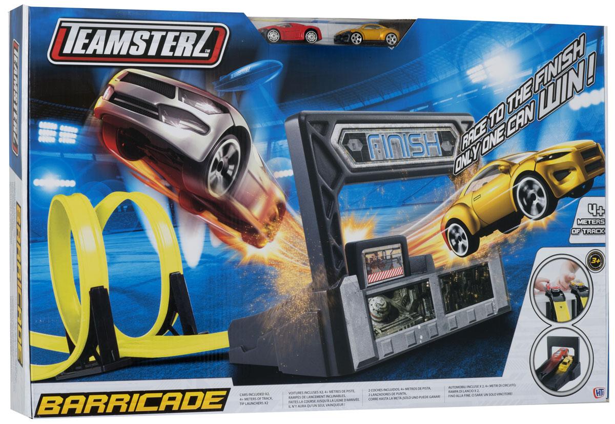 HTI Игрушечный трек Баррикады Teamsterz motormax игрушечный трек мини заправочная станция