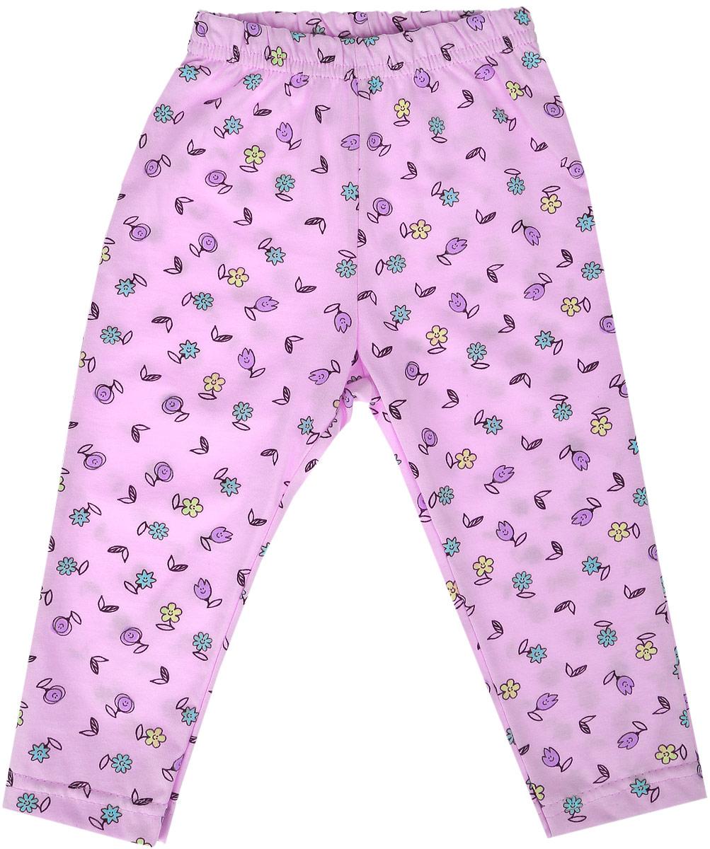 Фото Штанишки для девочки Веселый малыш One, цвет: розовый. 135/170/one-Забавные цветочки. Размер 80