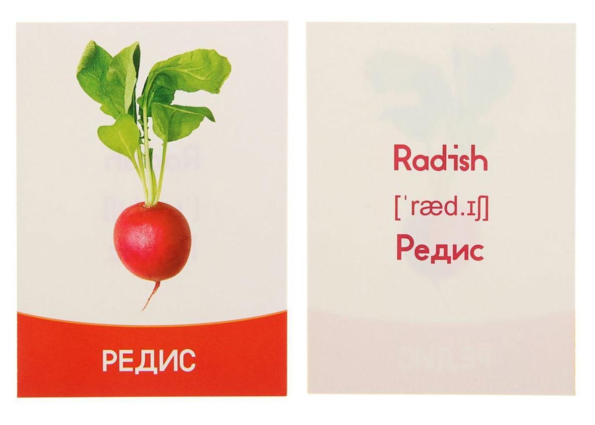 Лас Играс Обучающие карточки Овощи ООО А-Формат