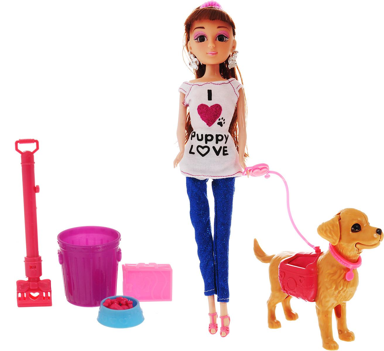 Veld-Co Игровой набор с куклой Pet Show цвет одежды белый синий veld co игровой набор с куклой торговый центр