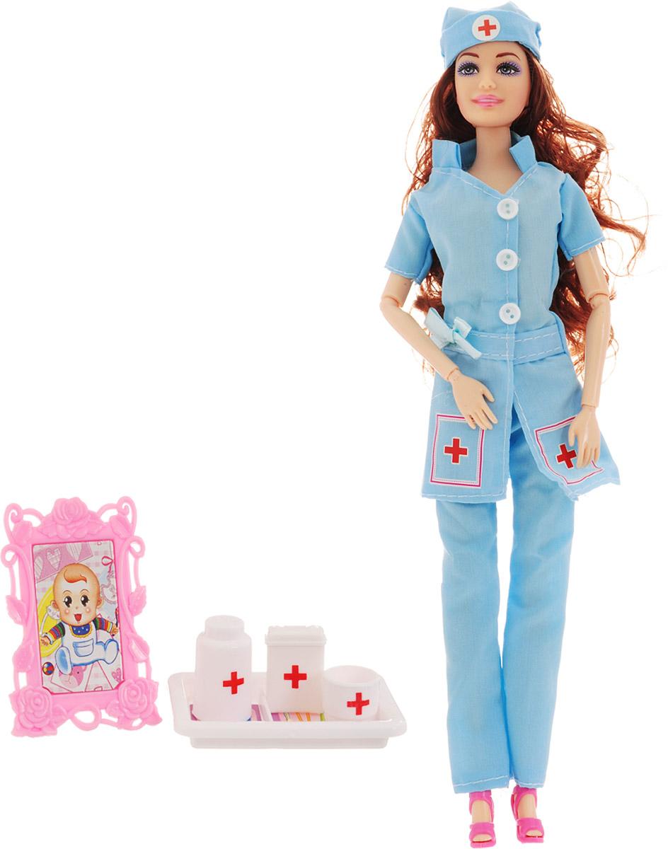 Veld-Co Игровой набор с куклой Детский доктор цвет голубой veld co игровой набор с куклой торговый центр