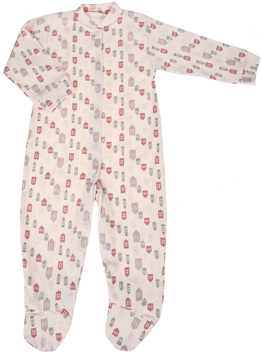 Комбинезон домашний для девочки Веселый малыш One, цвет: розовый. 51152/One-F (1). Размер 86 пижама для девочки веселый малыш цвет розовый 9215 m 1 размер 128