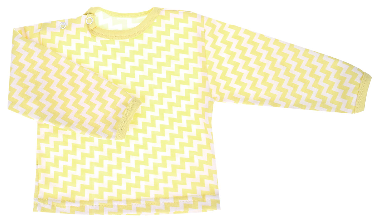 Лонгслив для мальчика Веселый малыш One, цвет: желтый. 66152/One-Зигзаг. Размер 8066152Лонгслив для мальчика Веселый малыш выполнен из качественного материала. Модель с круглым вырезом горловины и длинными рукавами.
