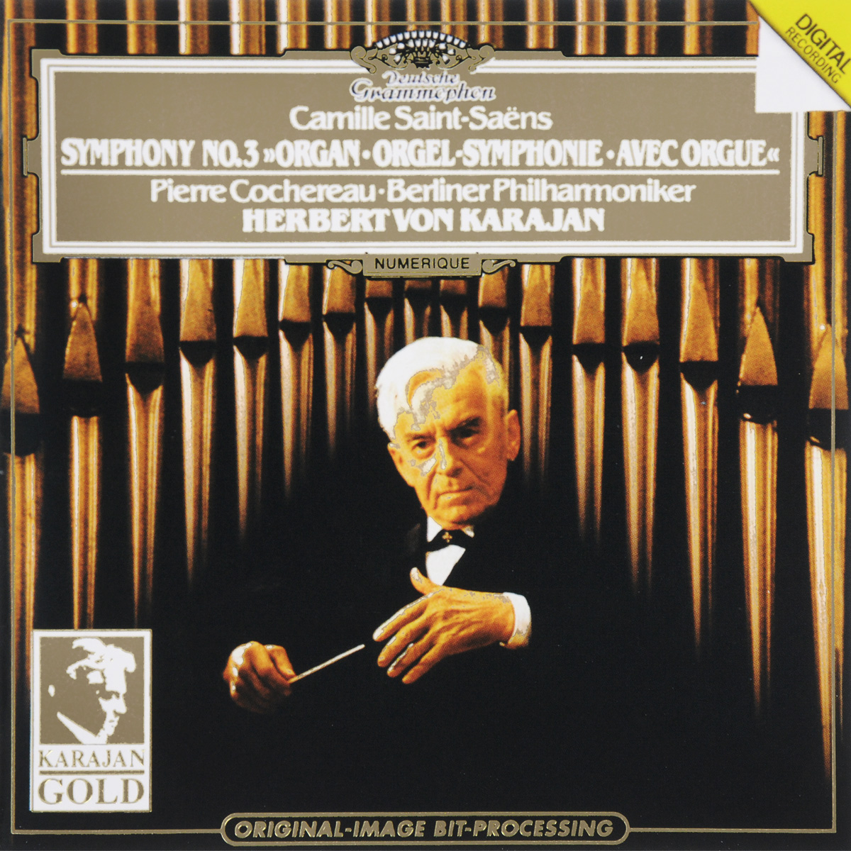 Герберт Караян,Berliner Philharmoniker,Пьер Кочереау Herbert Von Karajan, Berliner Philharmoniker, Pierre Cochereau. Saint-Saens. Symphony No.3 make up for ever khol pencil карандаш кайал для глаз 2k матовый белый