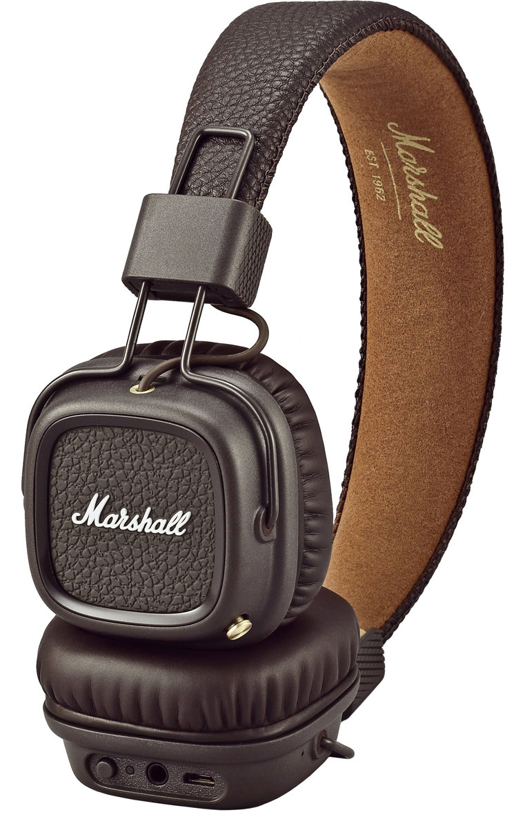 Marshall Major II Bluetooth, Brown наушники major ii brown