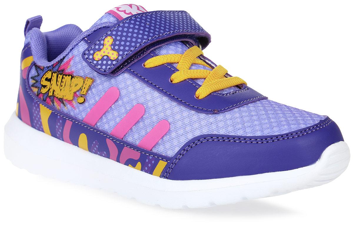 Кроссовки для девочки Kakadu, цвет: сиреневый. 6804C. Размер 326804CСтильные кроссовки от Kakadu - отличный выбор для вашей девочки на каждый день. Верх модели выполнен из синтетической кожи и текстиля. Кроссовки оформлены красочным принтом и надписями.Ремешок с застежкой-липучкой и шнуровка обеспечивают надежную фиксацию обуви на ноге. Ярлычок на заднике облегчает обувание. Подкладка из текстильного материала создает комфорт при носке. Съемная анатомическая стелька удобна в эксплуатации и позволяет быстро просушивать обувь. Облегченная подошва выполнена из ЭВА-материала.Рифление на подошве обеспечивает отличное сцепление с любой поверхностью.Модные и комфортные кроссовки - необходимая вещь в гардеробе каждого ребенка.