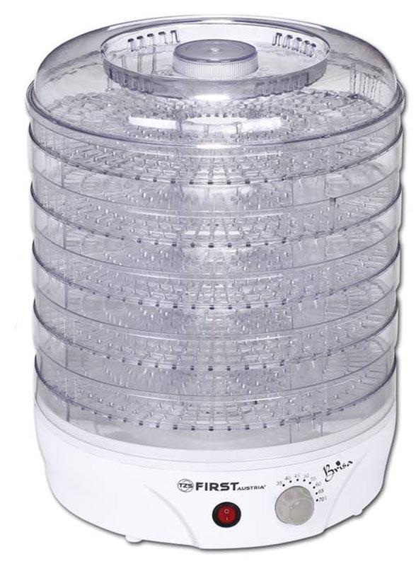 First FA-5126-2, White сушилка для продуктовFA-5126-2 WhiteЭлектросушилка для овощей и фруктов с тремя регулируемыми по высоте поддонами First FA-5126-2 имеет большую емкость и хорошую производительность. Она предназначена для сушки фруктов (яблоки, груши, вишни и т.д.), ягод, овощей, а также других продуктов (например сушка и вяление мяса) в домашних условиях.