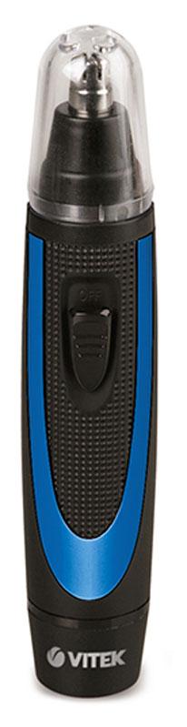 Vitek VT-2551(В) триммерVT-2551(В)Триммер Vitek VT-2551(В)DC 1.5В Батарея: 1*AA 1.5В (не включена) Лезвия: Подвижные лезвия.