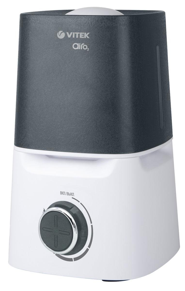 Vitek VT-2334(W) увлажнитель воздухаVT-2334(W)Увлажнитель VT-2334 W позволит улучшить качество воздуха в помещении. Регулировка интенсивности увлажнения происходит при помощи рычага, который расположен на лицевой части корпуса. Увлажнитель оснащен индикатором включения, а также индикатором, который оповещает об отсутствии воды в резервуаре.