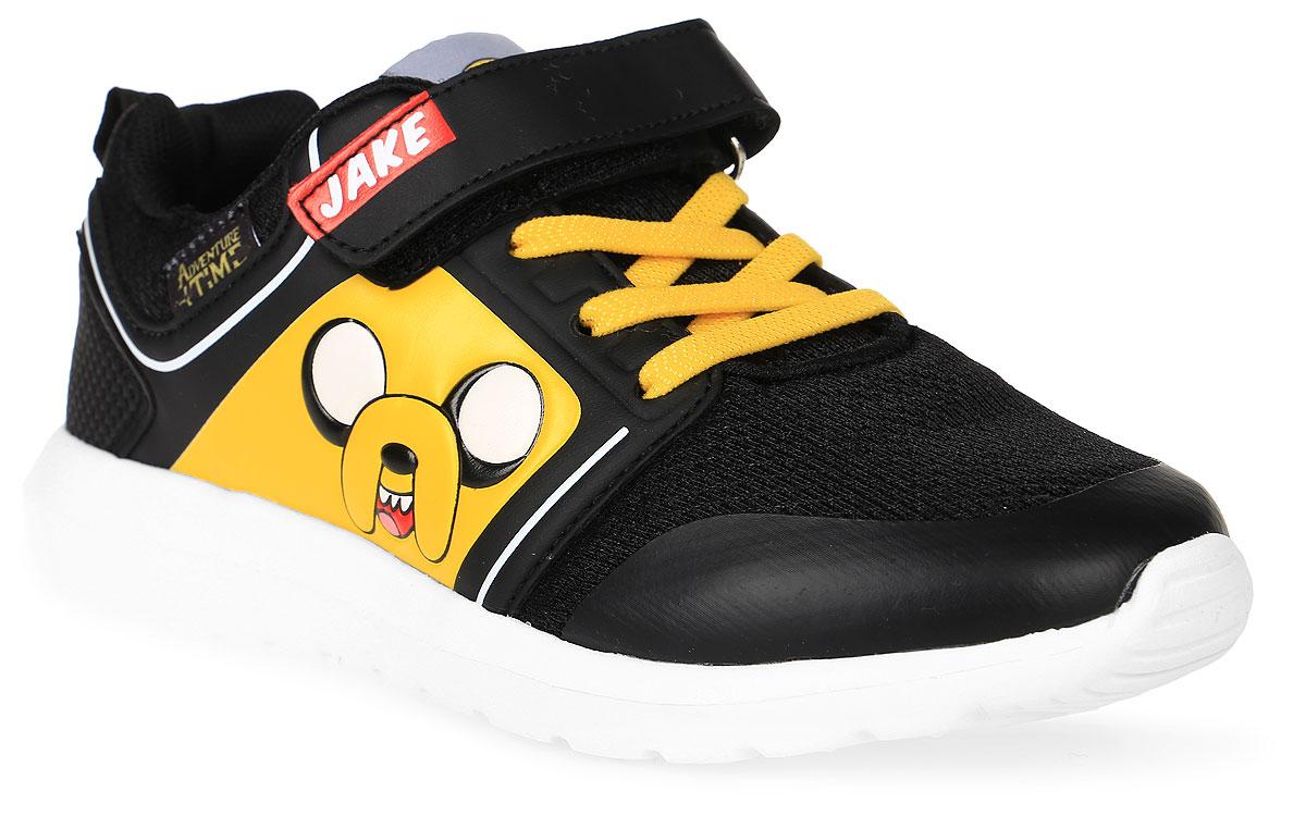 Кроссовки для мальчика Kakadu Adventure Time, цвет: черный, желтый. 6770A. Размер 366770AСтильные кроссовки Adventure Timeот Kakadu - отличный выбор для вашего мальчика на каждый день. Верх модели выполнен из синтетической кожи и текстиля. Кроссовки оформлены красочным принтом с изображением персонажей мультсериала Время приключений.Ремешок с застежкой-липучкой и шнуровка обеспечивают надежную фиксацию обуви на ноге. Подкладка из текстильного материала обеспечивает комфорт при носке. Съемная анатомическая стелька удобна в эксплуатации и позволяет быстро просушивать обувь. Облегченная подошва выполнена из ЭВА-материала.Рифление на подошве обеспечивает отличное сцепление с любой поверхностью.Модные и комфортные кроссовки - необходимая вещь в гардеробе каждого ребенка.