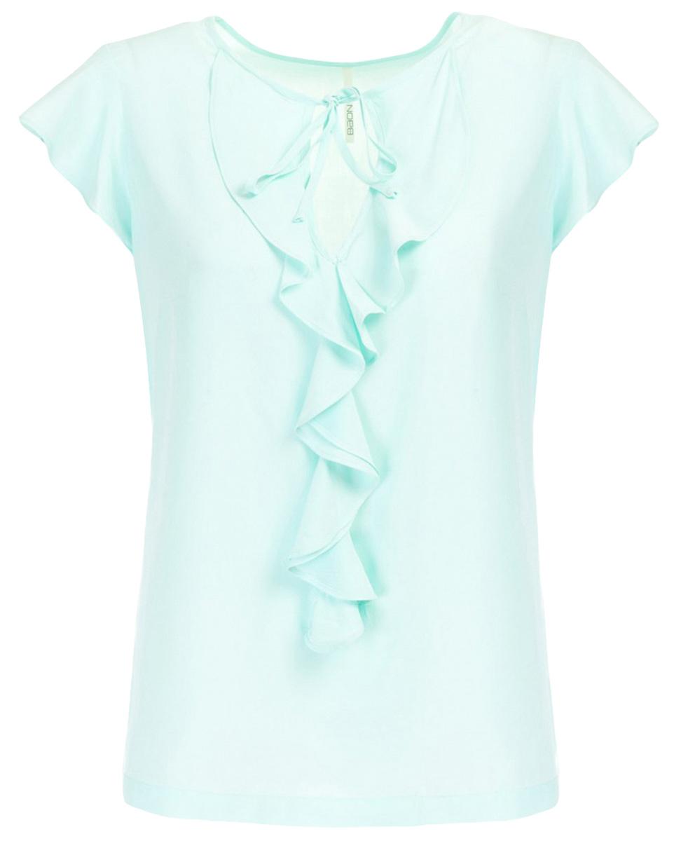Блузка женская Baon, цвет: голубой. B197013_Adriatic Mist. Размер M (46) туники tenerezza туника