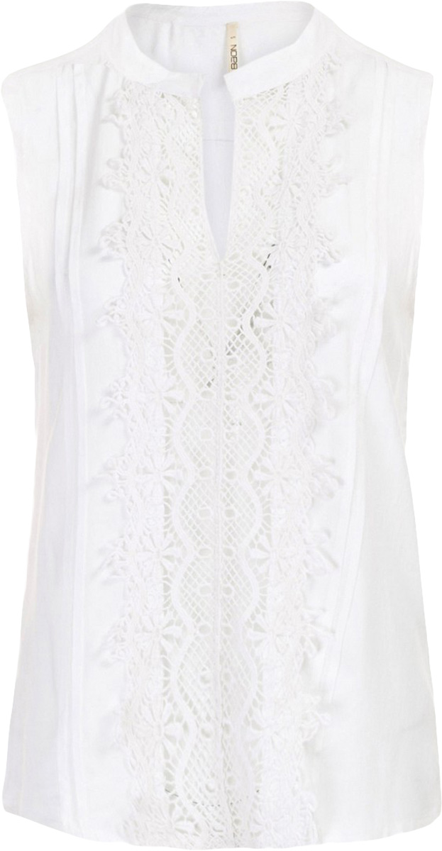 Блузка женская Baon, цвет: белый. B197052_Milk. Размер XXL (52)B197052_MilkБлузка женская Baon выполнена из вискозы. Изделие без застёжки имеет свободный крой. Передняя часть блузки украшена кружевом-кроше.