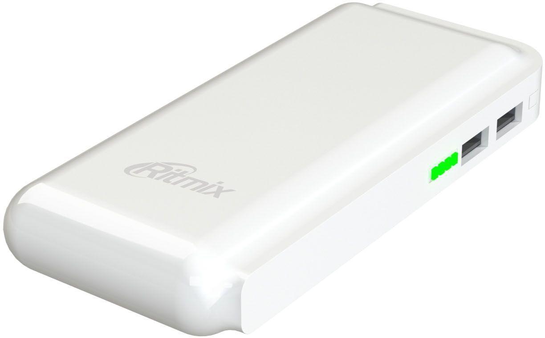 Ritmix RPB-10001L, White внешний аккумулятор (10000 мАч) - Аккумуляторы