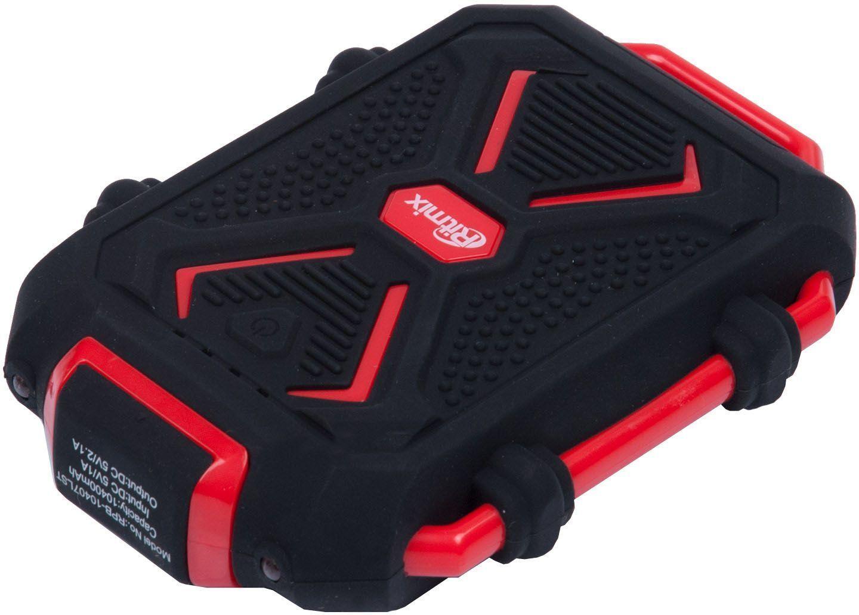 Ritmix RPB-10407LST, Black Red внешний аккумулятор (10400 мАч)15118763Внешний аккумулятор Ritmix RPB-10407LST - это стильный Power Bank с аккумулятором ёмкостью 10400 мАч в премиум-упаковке с открывающимся окошком на магните.Обладает ярким контрастным дизайном и ударопрочным корпусом. Прекрасно подойдет для активных людей, которые постоянно в движении.Корпус выполнен из силикона - его материал и продуманная конструкция защищают гаджет от пыли и воды. Время зарядки Ritmix RPB-10407LST - около 6 часов, а жизненный цикл - до 500 зарядок.Имеет один USB-выход и встроенный фонарик.
