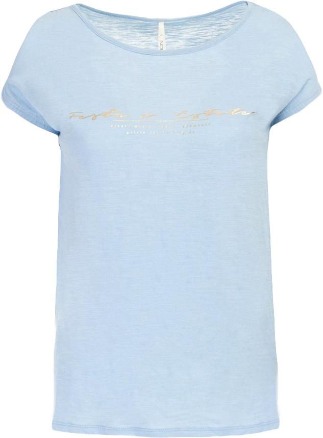Футболка женская Baon, цвет: голубой. B237030_Myosotis. Размер XL (50) платье baon цвет бледно голубой b457056
