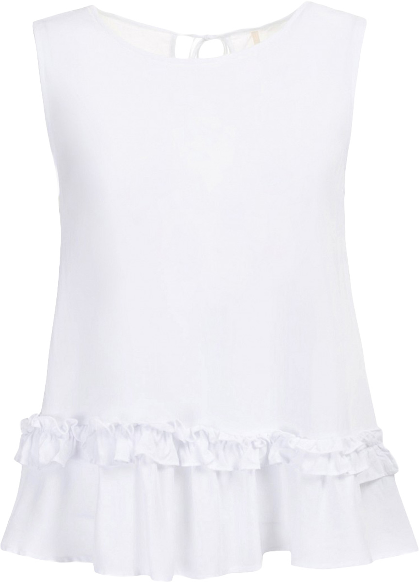Топ женский Baon, цвет: белый. B267030_White. Размер M (46) пуховик женский baon цвет темно синий b006583 размер m 46