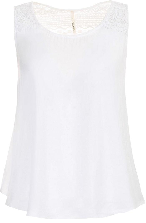 Топ женский Baon, цвет: белый. B267031_Milk. Размер S (44)B267031_MilkТоп женский Baon выполнен из вискозы. Модель с круглым вырезом горловины.