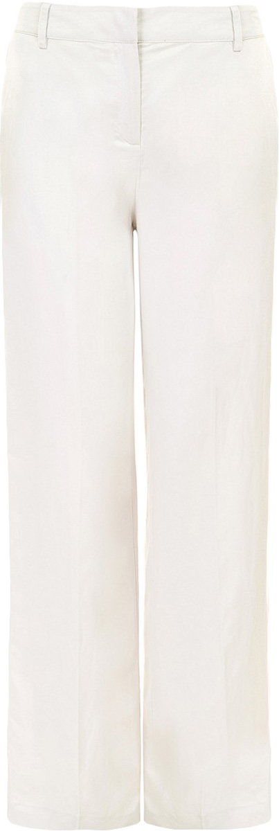 Брюки женские Baon, цвет: бежевый. B297027_Sea Salt. Размер XL (50)B297027_Sea SaltБрюки женские Baon выполнены из льна и хлопка. Изделие застёгивается на молнию и потайные крючки. Сзади и по бокам расположены карманы. Пояс дополнен шлёвками для ремня.