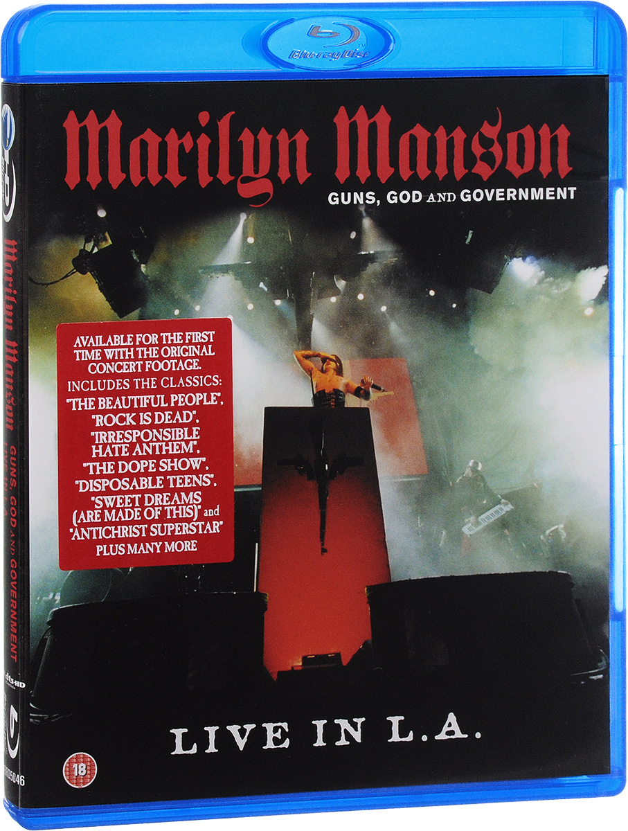 Marilyn Manson: Guns, God & Government. Live In L. A. (Blu-ray) marilyn manson guns god