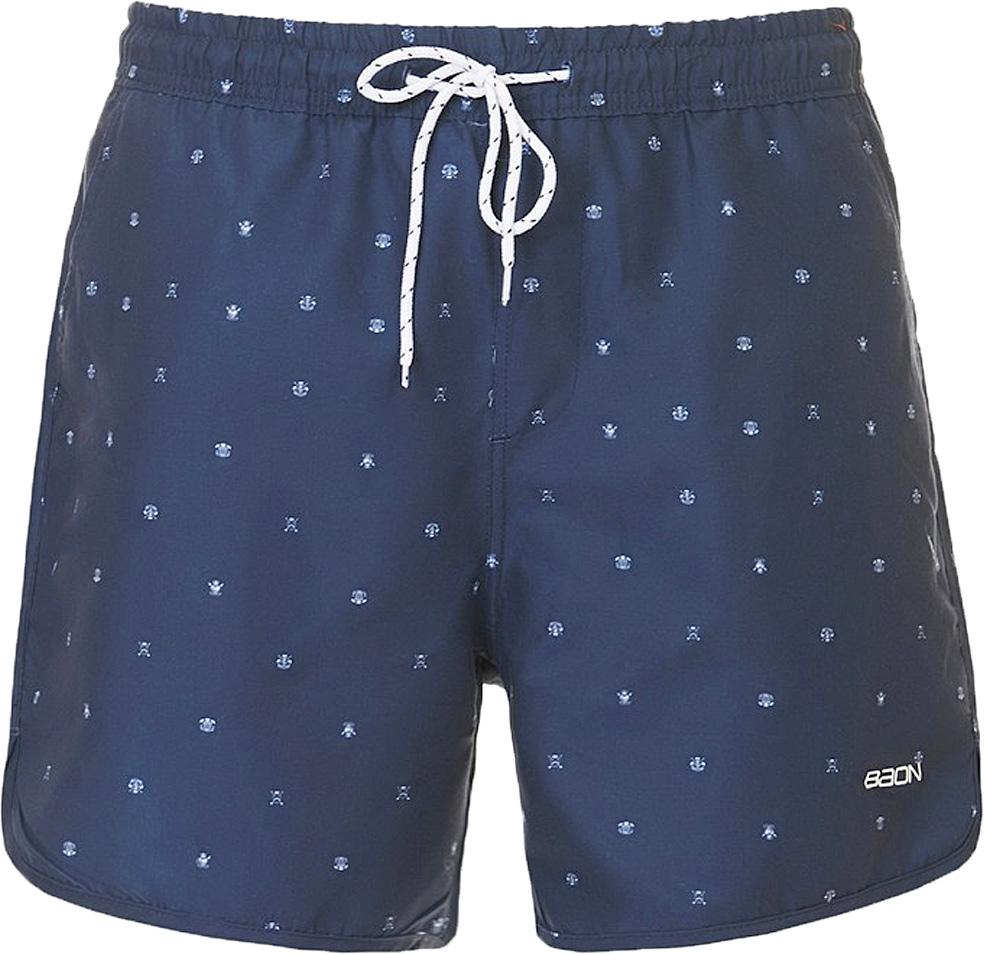 Шорты мужские Baon, цвет: синий. B827016_Deep Navy Printed. Размер S (46)B827016_Deep Navy PrintedШорты мужские Baon выполнены из полиэстера. Модель дополнена затягивающимся шнурком.